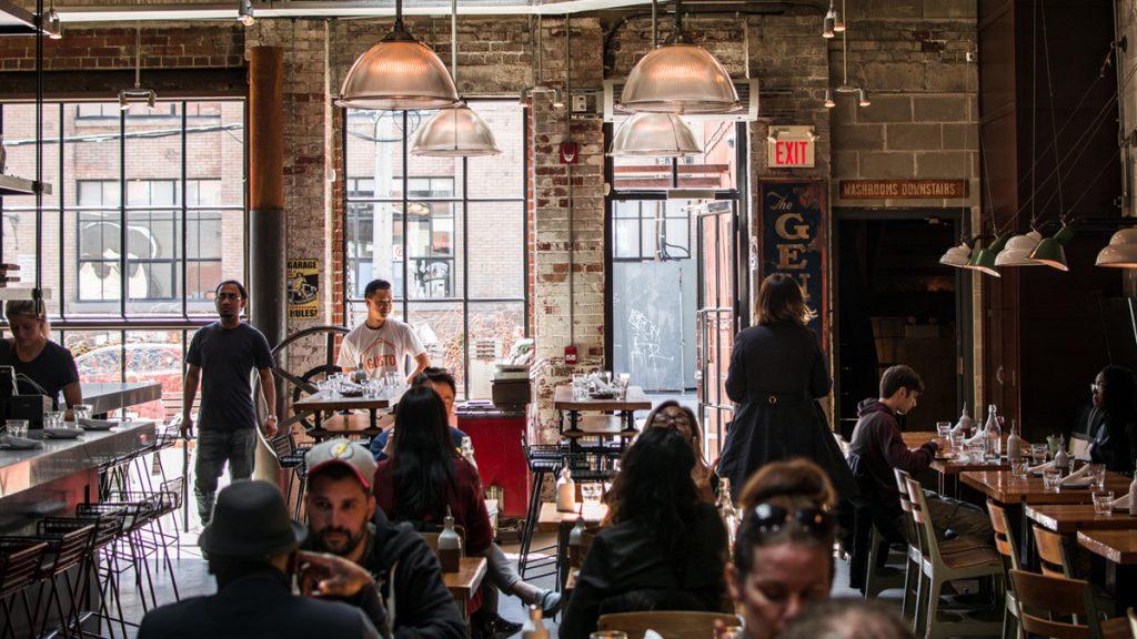 Decoración industrial en bares y restaurantes