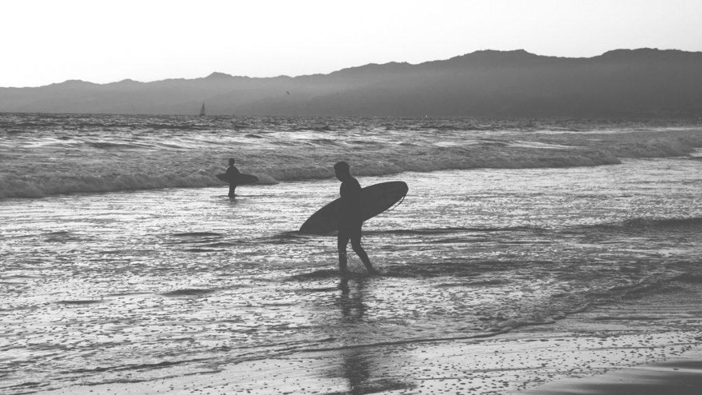 inspiración para una decoración surfera